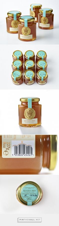Fortnum & Mason limited edition honey packaging, by Design Bridge - created via https://pinthemall.net