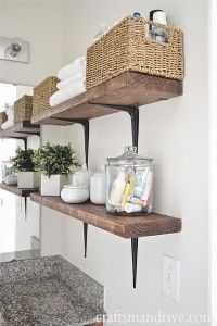 DIY Rustic Bathroom Shelves - Craftsman Drive