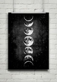 Moon Poster,Full Moon,Moon Art With Moon Phases,Astronomy - 天文学 & エイリアン 2020 Painting Inspiration, Art Inspo, Style Inspiration, Moon Art, Moon Moon, Moon Phases Art, Epson Ink, Moon Painting, Full Moon