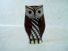 Mid Century Red Optic Lucite Owl Figurine by SwirlingOrange11, $140.00