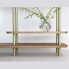 Echoing Carlo Scarpa's approach to materiality and juxtaposition, the Colonna range features a delicately balanced combination of natural materials as seen here in the #colonna console. Available through #criteria #criteriacollection #melbourne #furniture #design #australianmade #interiors @rosanna_ceravolo_design