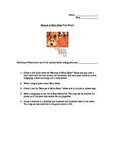 Book Review  Because of Winn Dixie   Natural Kids Team