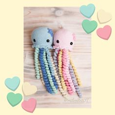 Pulpos tejidos a crochet, pulpos para recien nacidos