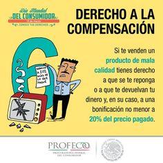 Profeco. Derecho a la compensación