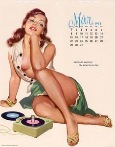 Retro Hi-Fi Calendar Girl | source - itishifi.blogspot.com