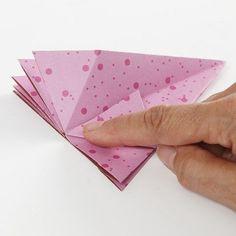 A hanging Decoration with Vivi Gade Design Paper Diamonds - Creative ideas Paper Diamond, Paper Cutting, Cut Paper, Arts And Crafts, Paper Crafts, Paper Folding, Design, Creative, Handmade
