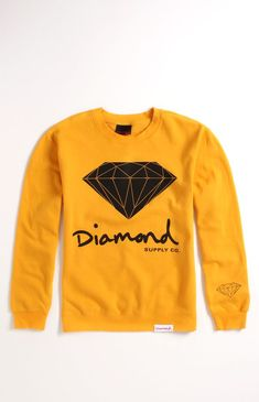 (Limited Supply) Click Image Above: Mens Diamond Supply Co Hoodie - Diamond Supply Co Script Logo Crew Fleece