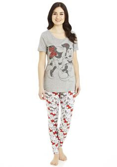 Clothing at Tesco | Disney Minnie Mouse T-Shirt and Leggings Set > nightwear > Nightwear & Slippers > women