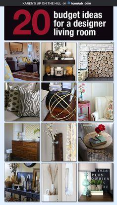 20 Budget Ideas for a Designer Living Room