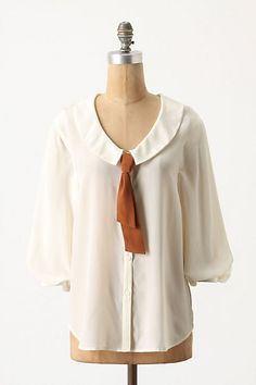 Slouched Sailor Blouse #anthropologie