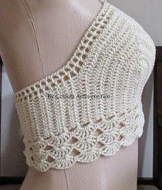 Fabulous Crochet a Little Black Crochet Dress Ideas. Georgeous Crochet a Little Black Crochet Dress Ideas. Crochet Halter Tops, Crochet Bikini Top, Crochet Blouse, Débardeurs Au Crochet, Crochet Stitches, Crochet Designs, Crochet Patterns, Crochet Fashion, Crochet Clothes