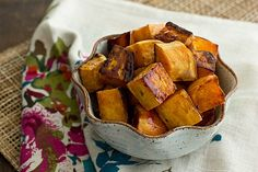 Apple Cider Glazed Sweet Potatoes - a lighter and more unique take on classic Thanksgiving yams with an apple cider reduction