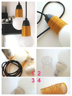 Kobber lampe DIY http://kreativekrumspring.dk/lampedesign-med-kobber