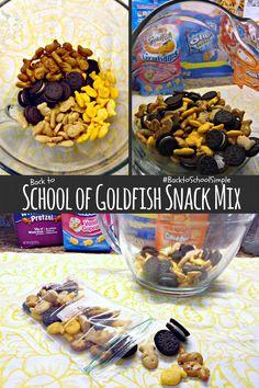 School of Goldfish #BacktoSchoolSimple Snack Mix #recipe