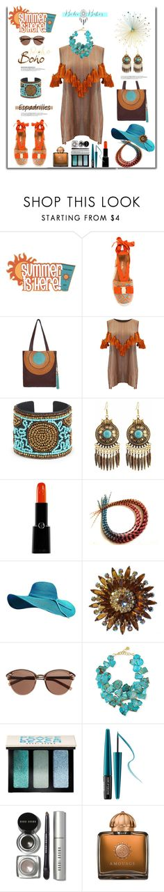 """Step Into Summer: Espadrilles"" by belladonnasjoy ❤ liked on Polyvore featuring Salvatore Ferragamo, INC International Concepts, Mochi, Sole Society, Giorgio Armani, Witchery, NEST Jewelry, Bobbi Brown Cosmetics, MAKE UP FOR EVER and AMOUAGE"