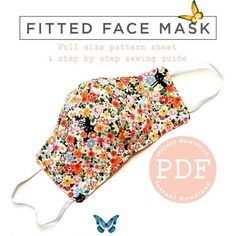 Fitted Face Mask Pattern  Face Mask Pattern  PDF Face Mask  | Etsy Face Mask Pattern PDF Face Mask Fitted Face Mask Pattern | Etsy<br> Free Printable Sewing Patterns, Free Sewing, Free Printables, Easy Face Masks, Diy Face Mask, Pocket Pattern, Free Pattern, Photo Face Masks, Youtube How To Make