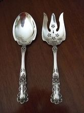 "2 Pc Sterling salad set in ""Buttercup"" by Gorham. Old Gorham hallmark."