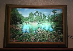 """Nice Vintage 1950's Helmscene 37 Lighted Picture """"Cypress Gardens Florida"""" 