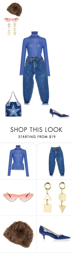 """Sans titre #1989"" by carlahasarrived ❤ liked on Polyvore featuring Emilio Pucci, PèPè, Eddie Borgo, Overland Sheepskin Co. and STELLA McCARTNEY"