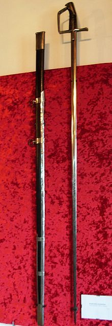 """The """"koncerz"""" (similar to the western Europe """"estock"""" or """"stock"""") is a special point-only sword, straight and very long (1.1-1.4 meters, typically 1.3 meters), for horseback use only because of its extreme length. From the mid 17th Century they were made in triangle cross-section, like a smallsword or modern epee, but they were much longer than small-swords. Koncerz were used in Poland since the 15th Century - perhaps the prototype was a turkish weapon designed to pierce mail."""