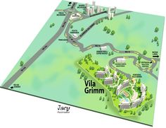 Mapa de localização para lançamento imobiliário - - Feito em sketchup e Adobe Illustrator.