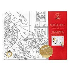 The white placemats needs color! This coloring placemats keeps children busy during a dinner. They are full of Christmas drawings, so very nice during the Christmas dinner. Pack contains 6 designs x 4 Christmas Drawing, Christmas Paper, Christmas Colors, Christmas Stuff, Coloring Sheets, Coloring Pages, Colouring, White Placemats, Christmas Placemats