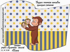 Curious George Free Party Printables. Food flag