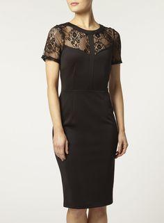 Photo 3 of black lace pencil dress