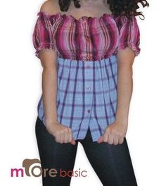 Country girl shirt DIY out of 2 men's shirts
