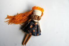 midnight star little lu 13ish handmade cloth doll от humbletoys