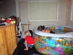 Home water birth is awesome! Water Birth, Getting Out Of Bed, Cuddling, Awesome, Home, Physical Intimacy, Ad Home, Homes, Cuddles