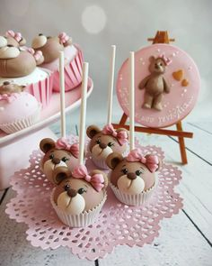 Teddy Bear Birthday Cake, Teddy Bear Party, Teddy Bear Cakes, Teddy Bear Baby Shower, Baby Birthday Cakes, Baby Boy Shower, Cupcakes Baby Shower Niño, Baby Shower Desserts, Shower Cakes