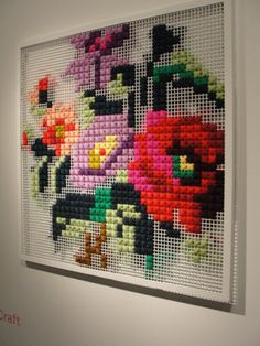 GIANT cross stitch..cool. Will have to get my mother-in-law to try this out at her craft group!