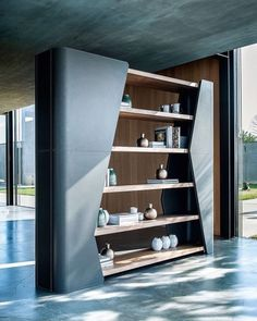40 Modern Living Room Partition Ideas - Not only does it serve to give more space in a crammed up room but glass room divider partition is a perfect decorative element for a living room or a. Living Room Partition Design, Room Partition Designs, Partition Ideas, Shelving Design, Bookshelf Design, Luxury Furniture, Furniture Design, Outdoor Furniture, Glass Room Divider
