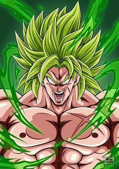 Broly Full Power by Migne Huynh Manga Dbz, Broly Ssj4, Broly Super Saiyan, Dbz Drawings, Goku Y Vegeta, Dragon Super, Super Anime, Ball Drawing, Lion King Art