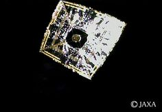 The Japan Aerospace Exploration Agency's Ikaros solar sail is seen in deep space