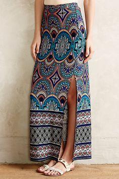 Crystallism Maxi Skirt #anthropologie