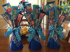 Cheerleader megaphone candy bouquet