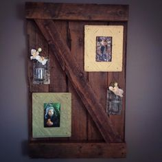 Barn door wall hanging