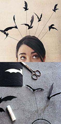 DIY: Bat headband, lol, not my style, but cute