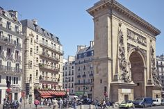 "DID YOU KNOW - The Porte St Denis in the 10th Arrondissement was built to honor the great military victories of Louis XIV.  The gilded bronze inscription reads Ludovico Magno, ""to Louis the Great""."