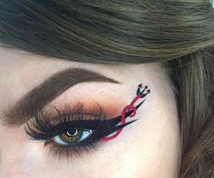 WEBSTA @ glowawaymeg - Beyond excited to finally be able to share this black magic themed liner I created for @ipsy a while back! Thank you so much to Ipsy for sending me the @katvondbeauty Tattoo liner so I could carve out this wicked wing! I've seen so many amazing devil helix liners being created too so clearly great mind think alike!!----------PRODUCTS@katvondbeauty Tattoo liner in Trooper, Shade Light eye palette