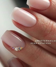 Wedding Nails-A Guide To The Perfect Manicure – NaiLovely French Tip Nail Designs, Natural Nail Designs, Nail Art Designs, Simple Wedding Nails, Wedding Nails Design, French Nails, Cute Nails, Pretty Nails, Hair And Nails