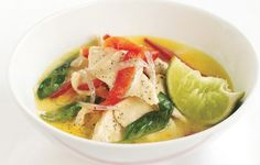 Simple Thai Green Chicken Curry -- you can use boneless chicken breast or leftover turkey for this great soup.