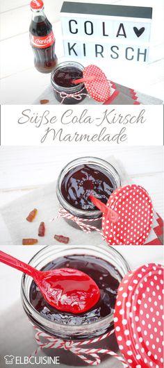 Chérie reiche mir die Coca Cola! Diese köstliche Cola-Kirsch-Marmelade versüßt jedes Frühstück!