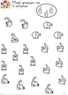 Elmer. Faire des groupes de 3 éléphants.