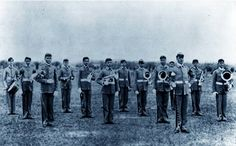 The very first marching band at Texas A&M University...whoop!  The beginnings of The Corps.