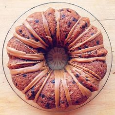 Happy Friday, brought to you by this gorgeous banana Bundt cake. Banana Bundt Cake, Nordic Ware, Happy Friday, Bread, Baking, Desserts, Food, Tailgate Desserts, Deserts