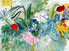 RAOUL DUFY -Fleurs 1948