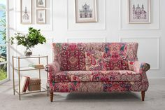 FREE SHIPPING! Kantha Pattern Hand Tufted Settee by JenTayHome on Etsy